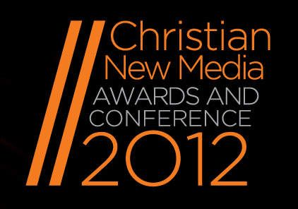 英ロンドンで開催されたニューメディアカンファレンスのロゴ。