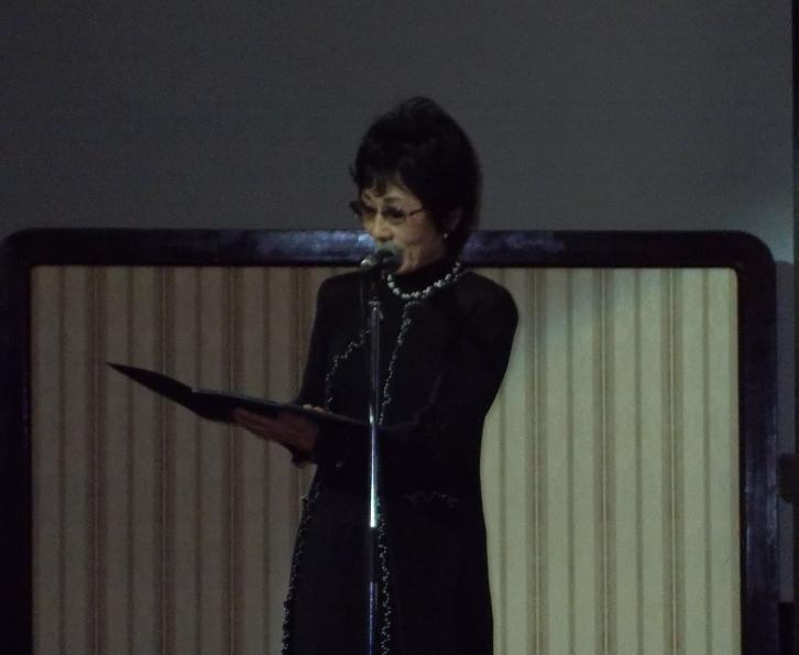 元TBSアナウンサーの宇野淑子氏=3日、学士会館(東京都千代田区)で