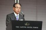 大竹美喜氏。2012年12月5日、東京都内ホテルで。