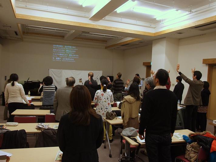恵那レーマミニストリー立川聖会の様子。+99Tachikawa(東京都立川市)で。2013年1月5日。