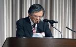 代表祈祷を捧げる日本同盟基督教団総主事で東京基督教大学理事長の廣瀬薫氏=22日、東京都新宿区の京王プラザホテルで