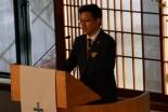 「復活の希望」と題して聖書のメッセージを伝える天野弘昌氏=7日、東京都新宿区の淀橋教会で
