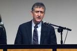 講演するニシム・ベンシトリット駐日イスラエル大使=5日、東京都千代田区のお茶の水クリスチャンセンターで
