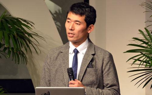 講演する大友幸証氏=11日、東京都新宿区の淀橋教会で