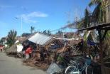 台風による被害を受けたセブ島北部ボゴ市内の家屋(写真提供:日本国際飢餓対策機構)