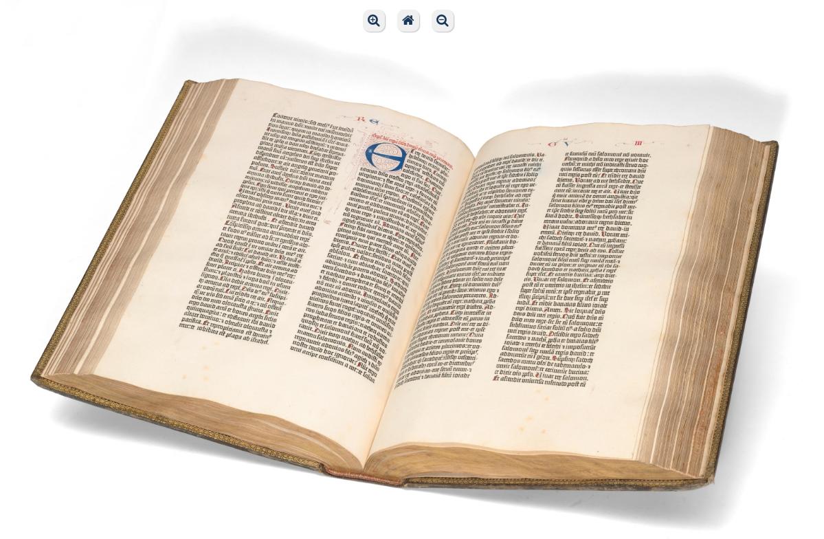バチカン図書館が公開したグーテンベルク聖書のスキャン画像