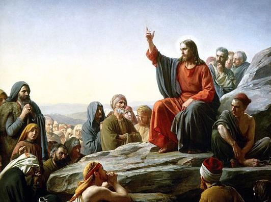 カール・ハインリッヒ・ブロッホによる油絵「山上の垂訓」