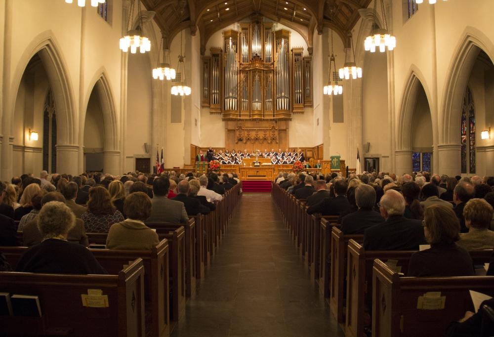 PC(USA)から離脱しECOに加盟したテキサス州ダラス市のハイランドパーク長老教会の礼拝の様子(写真:同教会広報部)