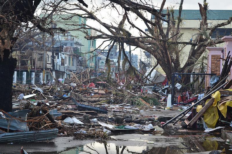 台風30号により大きな被害を受けたフィリピン・レイテ島のタクロバン市の様子(11月14日)<br />