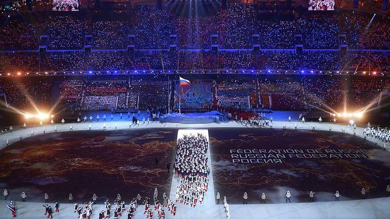 2014年ソチ冬季五輪の開会式=7日