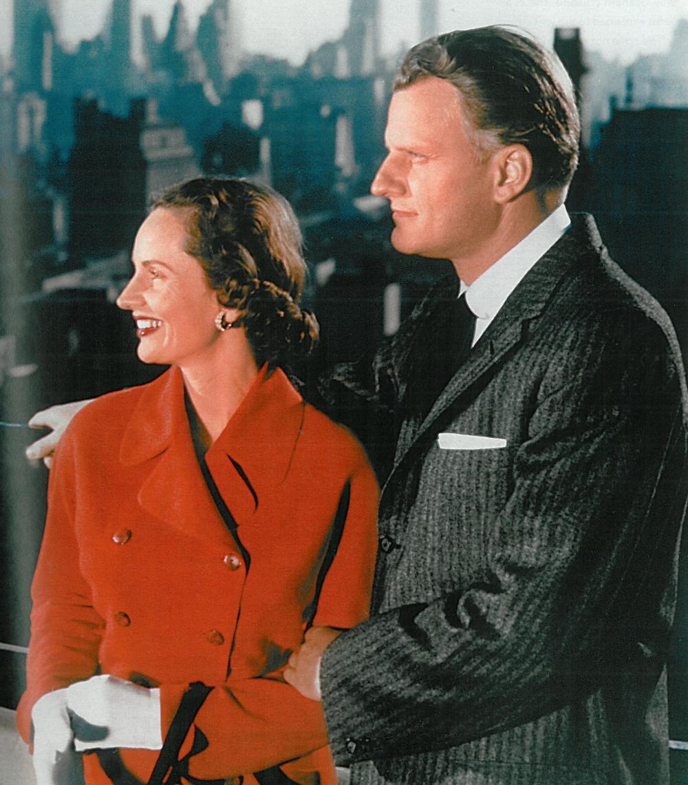 ビリー・グラハムとルース夫人=ニューヨーク市でのクルーセイドで(写真:ベーカー・ブックス、ハンスペーター・ヌイシュ)