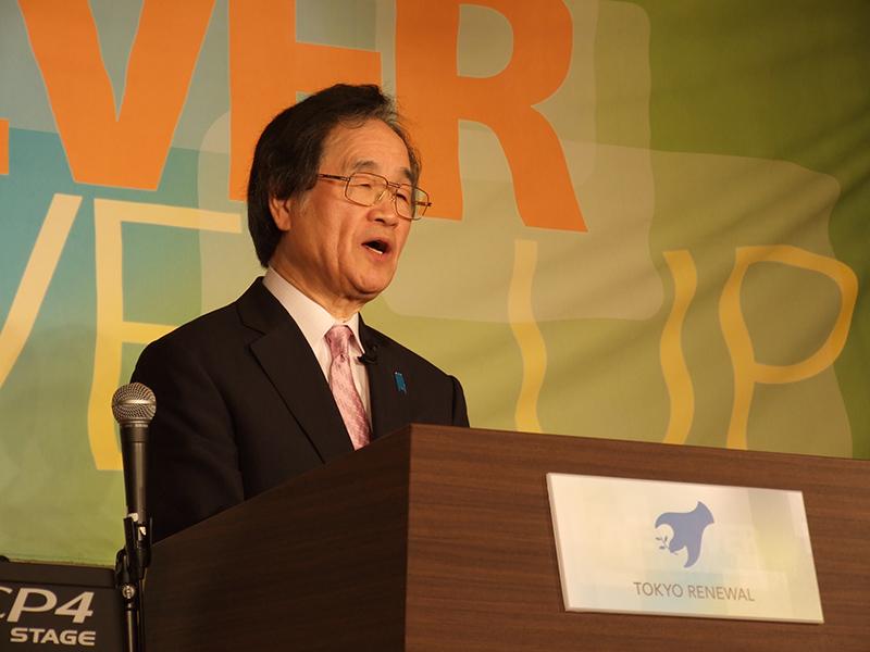 「東京リニューアル」でメッセージを伝える大川従道牧師=23日、ハイアット・リージェンシー東京(東京・新宿)で