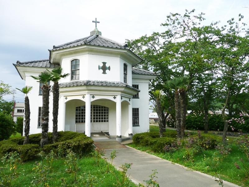 公園施設として一般公開されていた被災前の教会堂