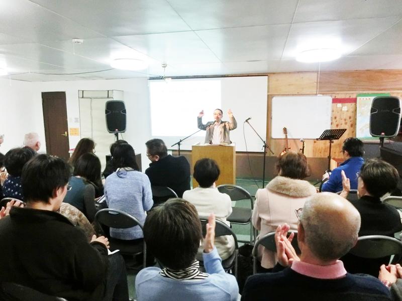 毎週日曜午後2時から気仙沼ホープセンターで行われている礼拝
