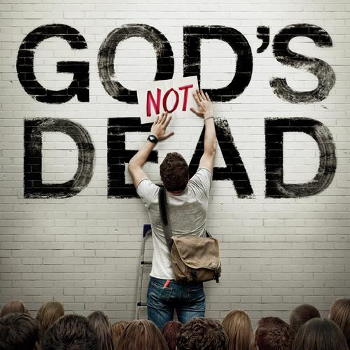 2014年3月に公開された米映画『God's Not Dead(神様は死んでない)』のポスター(写真:『God's Not Dea』のフェイスブックより)