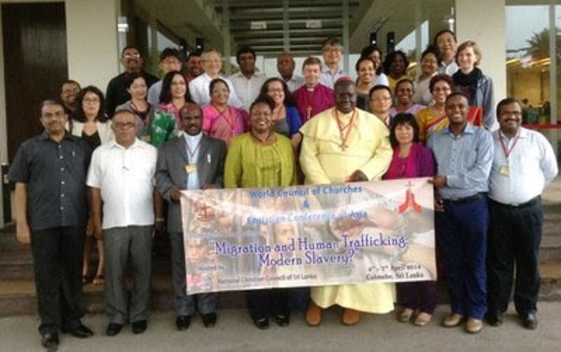 スリランカの首都コロンボで開かれた、人身売買に関するエキュメニカル会議の参加者たち(写真:スリランカ・キリスト教協議会提供)