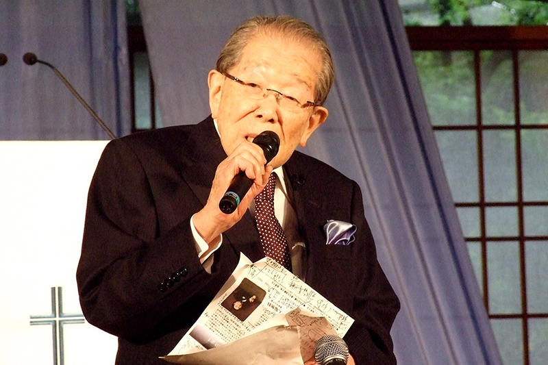 日野原重明氏「102年の人生のハイライト」 復活祭でベー・チェチョルの賛美と証し集会