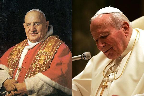 ヨハネ23世とヨハネ・パウロ2世が27日列聖へ
