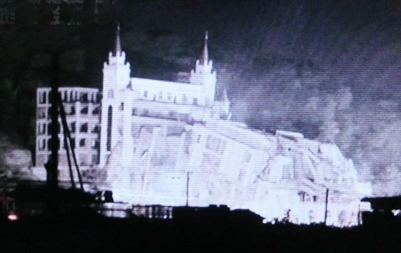 29日夜までに強制的に取り壊された三江教会(写真:freeweibo)