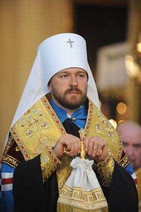 ロシア正教会の教会渉外担当部委員長であるイラリオン府主教(写真:ウクライナ宗教情報サービス提供)