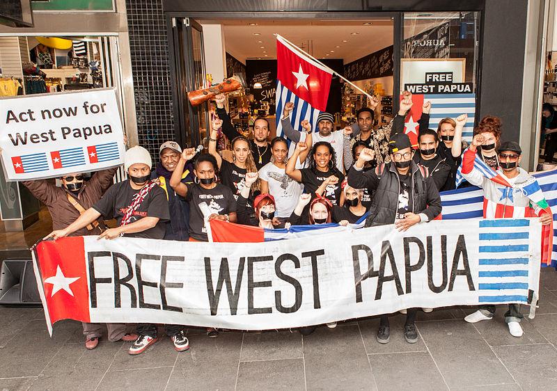 西パプアの自由を求める人たち=2012年、オーストラリア・メルボルン(写真:Nichollas Harrison)