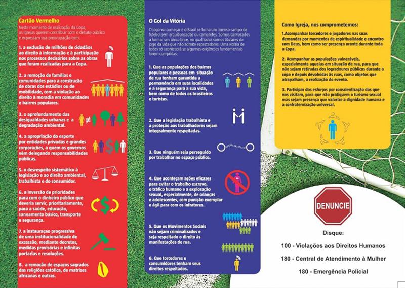 ブラジルの宗教者、ワールドカップ開催に人身売買反対や平和求める 貧困層は高い開催費用に抗議