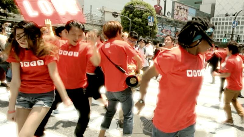 昨年5月に渋谷で行われたフラッシュモブの様子