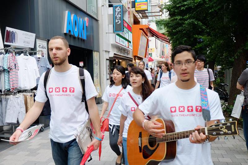 1週間かけ東京都内の各所を伝道「ONE WEEK TO SHINE」 OCCの一室借り切り、祈りと集会も