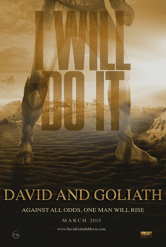 2015年3月公開予定の映画『ダビデとゴリアテ(David and Goliath)』(監督:ティム・チェイ)の予告ポスター