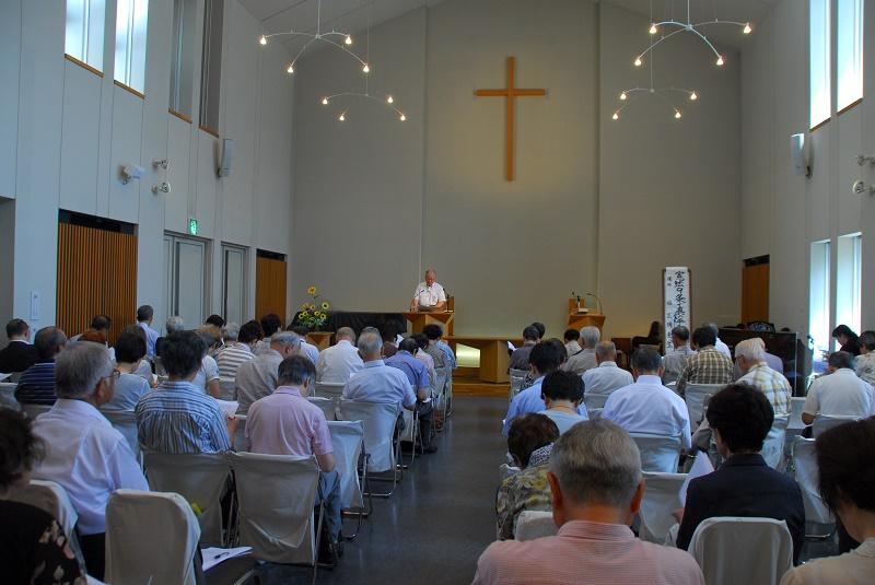8・15 クリスチャン憲法学者・稲正樹教授が講演「憲法9条で真の平和を実現しよう 安倍政権の進める戦争する国づくりに抗議して」