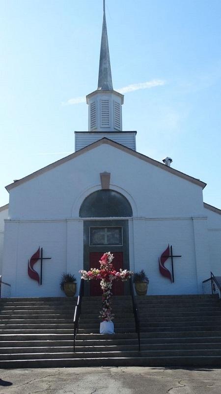 新ドメイン「.church」の採用を決めたブルックヘブン合同メソジスト教会(米ジョージア州ブルックヘブン市)。同教会のURLは「brookhaven.church」と一目でブルックヘブン市にある教会だと分かる。(写真:ミカ・ジェンセン)