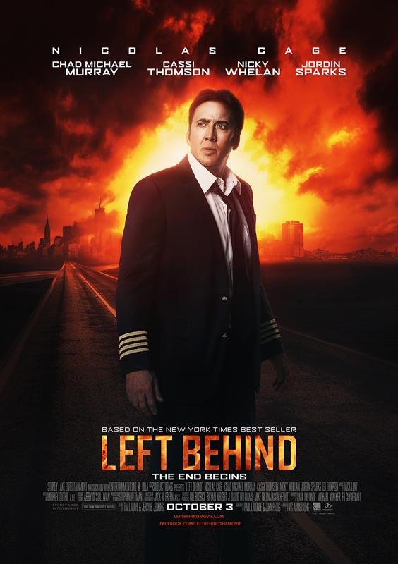 米国で10月3日から公開される映画『レフト・ビハインド(LEFT BEHIND)』のポスター
