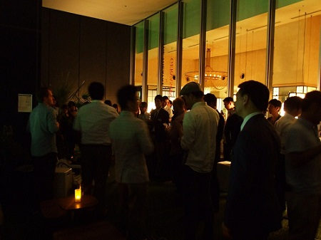 ライフハウス主催の異業種交流パーティー「Tokyo Biz」=3日、渋谷ヒカリエで