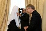 WCC総幹事、モスクワでキリル総主教と会談