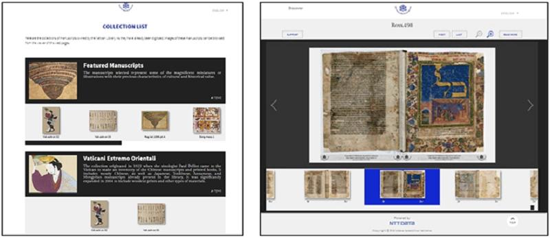 電子化された手書き文献の公開イメージ(写真:NTTデータ)