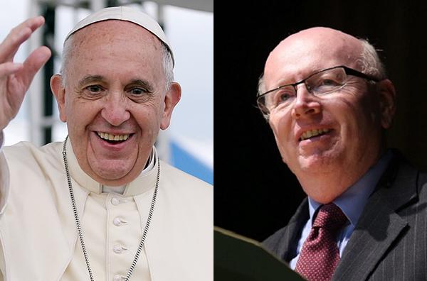 ローマ教皇フランシスコ(左)と世界福音同盟(WEA)のジェフ・タニクリフ総主事(写真:Korea.net, Jeon Han / Markus Nowak, @KongressChZ)