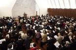 聖書協会クリスマス礼拝 聖書事業功労者・村岡崇光氏の講演も
