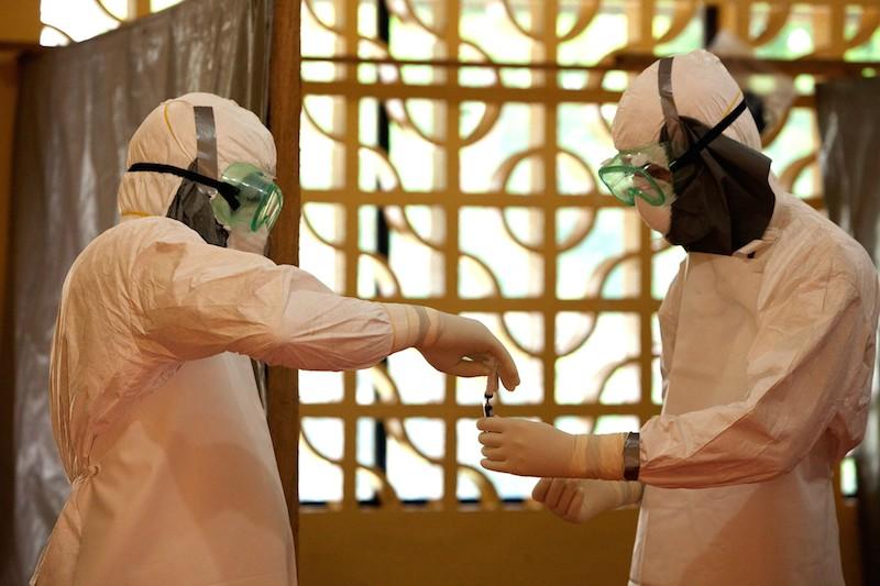 米国の国際的なキリスト教援助団体であるサマリタン・パースが西アフリカのリベリアで設営しているエボラ隔離センター(写真:サマリタン・パース)
