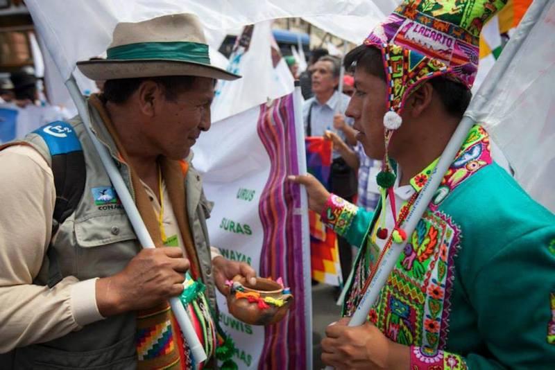 ペルーの首都リマで開かれた国連気候変動枠組条約第20回締約国会議(COP20)に参加した先住民族(写真:ルーテル世界連盟 / シーン・ハウキー)