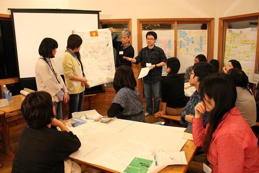 今年3月に東京基督教大学で行われたファシリテーター・トレーニングの様子。学生や社会人など15人が参加した。(写真:日本国際飢餓対策機構)
