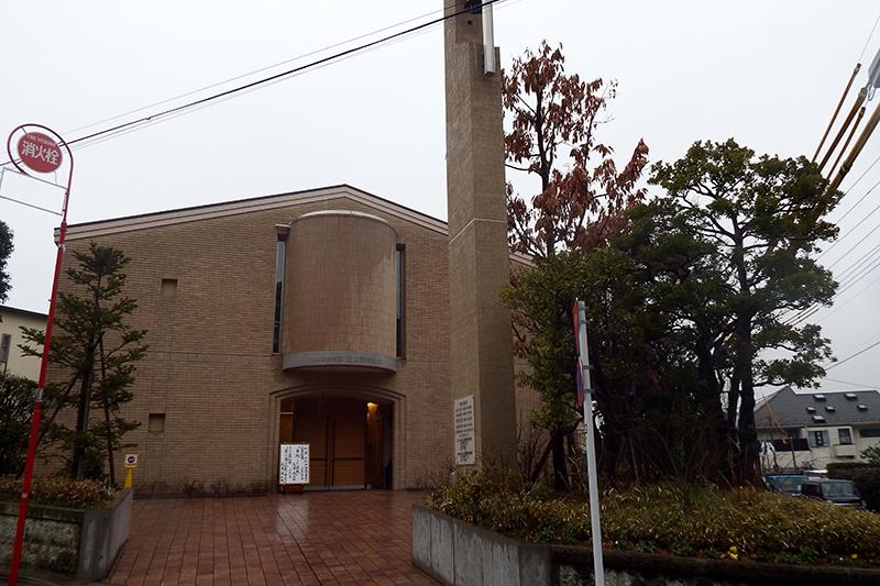 日本基督教団田園調布教会(東京都大田区)=22日
