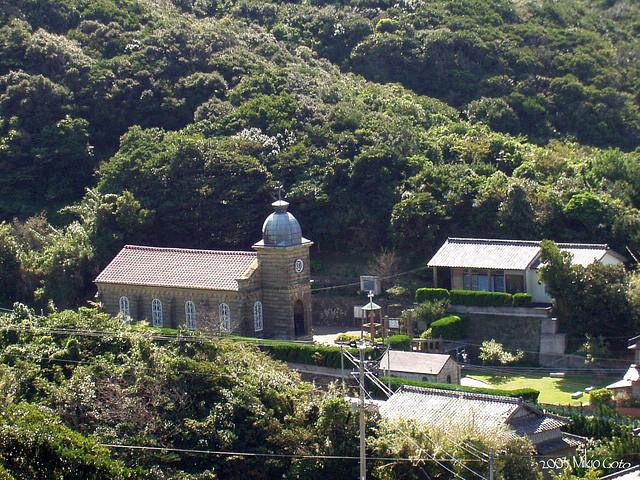 「長崎の教会群とキリスト教関連遺産」の構成資産の一つである頭ヶ島天主堂(長崎県新上五島町)(写真:Mikio Goto)