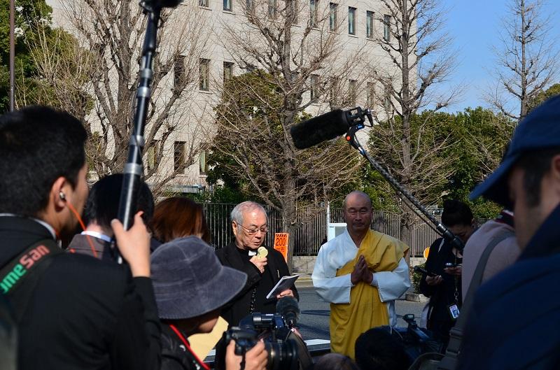 「後藤健二さんのいのちを守ろう」宗教者祈念集会 宗教の枠超え命の大切さを訴える