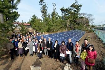 カトリック大磯教会庭に太陽光パネル 広がる市民発電の中で教会ができることとは?
