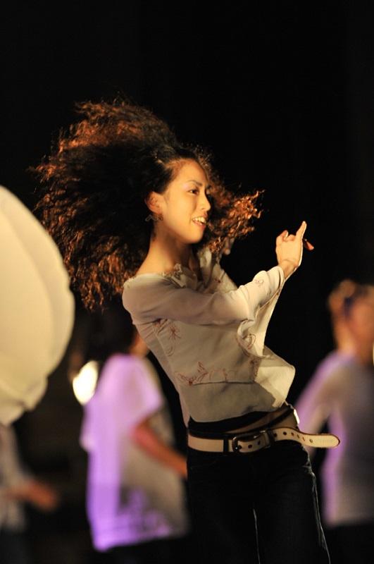 代表のMIZUEさん。「ONE GOSPEL DANCE SCHOOL」は、ヒップホップダンスにロックダンス、ジャズダンスやサインダンスなど、さまざまなジャンルを網羅した総合ダンススクールだ。