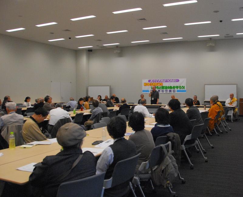 宗教者祈念集会の様子=17日、参議院議員会館(東京・永田町)で<br />