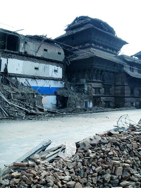 ネパールの首都カトマンズのダルバール広場付近