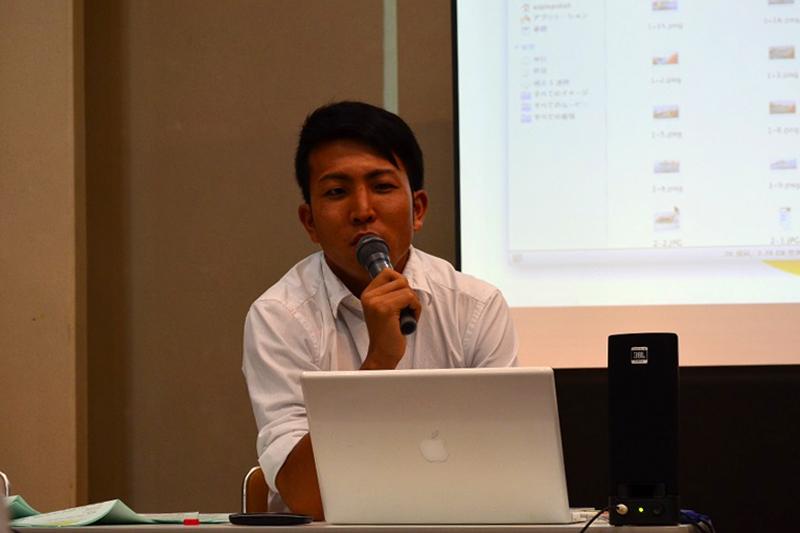 講演を行った日本基督教団林間つきみ野教会の吉田慈(しげる)牧師=6日、横浜YWCA(横浜市)で