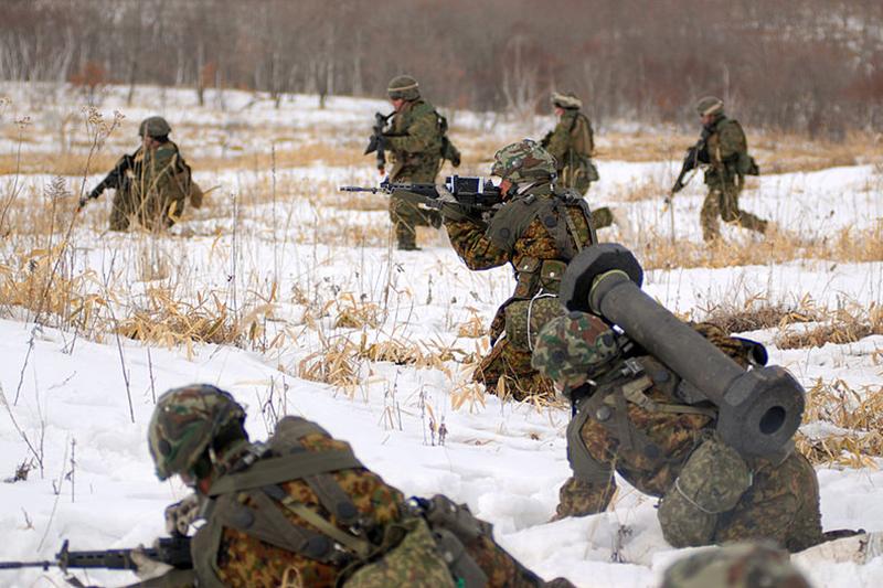 北海道で行われた陸上自衛隊と米海兵隊の共同戦闘訓練=2008年3月7日(写真:Lance Cpl. David Rogers)
