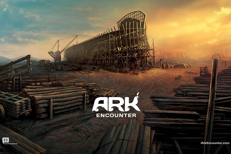 米ケンタッキー州ウィリアムズタウンで建造中のこのノアの箱舟の実物大模型は2016年に完成する予定。(写真:「アーク・エンカウンター」の公式サイトより)<br />